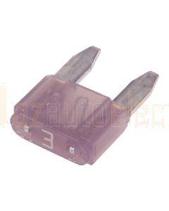 Narva 52703BL Mini Blade Fuse - 3 Amp (Blister Pack of 5)