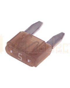 Narva 52705BL Mini Blade Fuse - 5Amp (Blister Pack of 5)