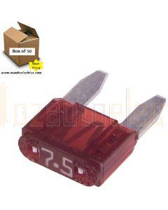 Narva 52707 Mini Blade Fuses - 7.5Amp (Box of 50)