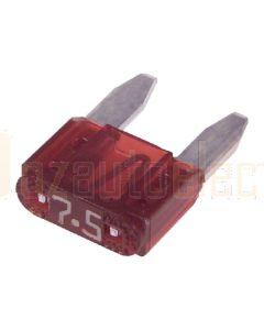 Narva 52707BL Mini Blade Fuse - 7.5Amp (Blister Pack of 5)