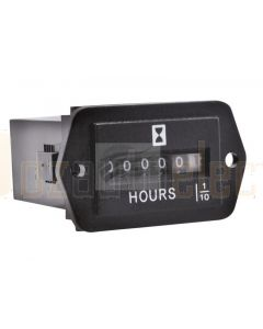 Mini Hour Meter 6-50V 0-99,999Hrs