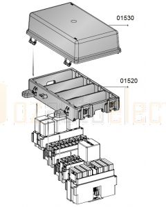MTA 01530 Four Module Cover