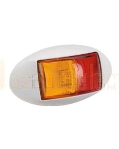 Narva 91404WBL 10-33 Volt L.E.D Side Marker Lamp (Red / Amber) with Oval White Deflector Base and 0.5m Cable (Blister Pack)