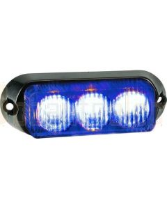 Narva 85210B 12/24V High Powered L.E.D Warning Light (Blue) - 3 x 1 Watt L.E.Ds