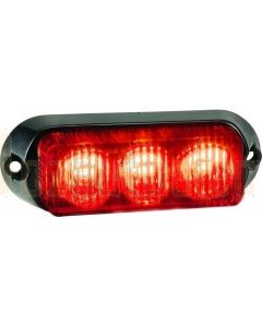 Narva 85210R 12/24V High Powered L.E.D Warning Light (Red ) - 3 x 1 Watt L.E.Ds