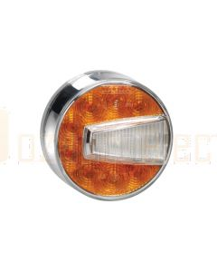 Narva 95006 12 Volt L.E.D Front Direction Indicator and Front Position Lamp (Amber/White) with 0.5m Hard-Wired Cable (RH)