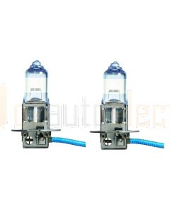 Narva 48531BL2 Halogen H3 Globe 12V 55W Blue Plus 110 PK22s (Blister Pack of 2)