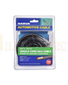 Narva 5802-5BK 255A Black 2 B&S Cable (5m)