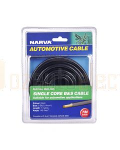 Narva 5806-7BK 140A Black 6 B&S Cable (7m)