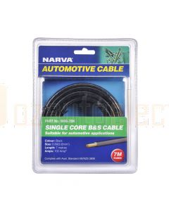Narva 5808-7BK 100A Black 8 B&S Cable (5m)