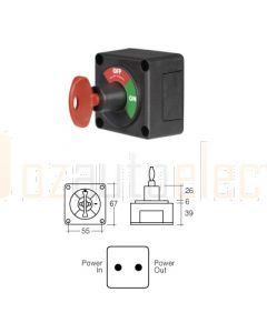 Narva 61078BL Battery Master Switch with Removable Key