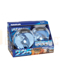 Narva 71680BE Ultima 225 Blue Pencil Beam Driving Lamp Kit 12 Volt 100W 225mm dia - Blister Pack