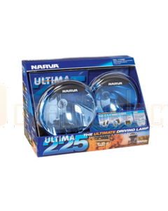 Narva 71700 Ultima 225 Combination Driving Lamp Kit 12 Volt 100W 225mm dia. Broad Beam, Pencil Beam Blister Pack