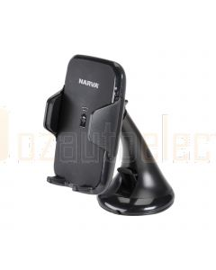 Narva 81124BL Wireless Charging Suction Mount Phone Holder - Blister Pack of 1