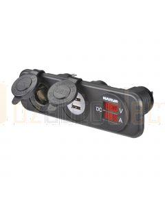 Narva 81185BL Heavy Duty Accessory Socket 12/24V DC LED Amp and Volt Meters