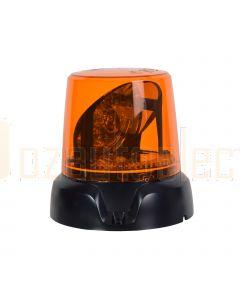 Narva 85470A 12/24V Aeromax LED Rotating Beacon, 3 Bolt Mount - Amber