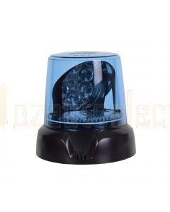 Narva 85470B 12/24V Aeromax LED Rotating Beacon, 3 Bolt Mount - Blue