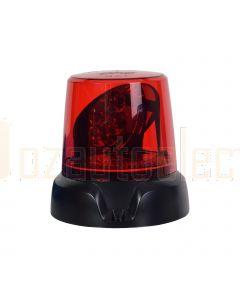 Narva 85470R 12/24V Aeromax LED Rotating Beacon, 3 Bolt Mount - Red
