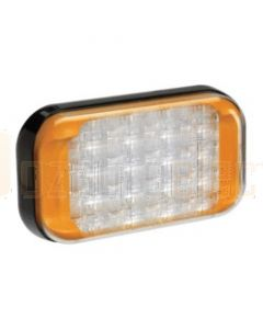 Narva 9-33 Volt High Powered L.E.D Warning Lamp (Amber) with 5 Flash Patterns, 0.5m Hard-Wired Cable and Black Base - Deutsch Connector (85222A-D)