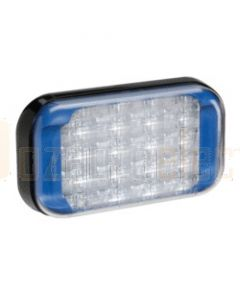 Narva 9-33 Volt High Powered L.E.D Warning Lamp (Blue) with 5 Flash Patterns, 0.5m Hard-Wired Cable and Black Base (85222B)