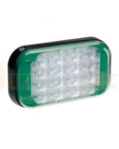 Narva 9-33 Volt High Powered L.E.D Warning Lamp (Green) with 5 Flash Patterns, 0.5m Hard-Wired Cable and Black Base - Deutsch Connector (85222G-D)
