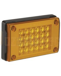 Narva 94820 9-33 Volt L.E.D Rear Direction Indicator Lamp (Amber) with 0.5m Cable, Black Housing and Security Caps