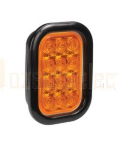 Narva 94530 9-33 Volt L.E.D Rear Direction Indicator Lamp Kit (Amber) with Vinyl Grommet, Plug & Leads (Blister Pack)