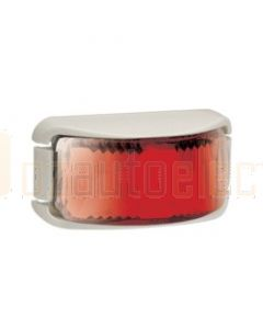 Narva 91632W 9-33 Volt L.E.D Rear End Outline Marker Lamp (Red) with White Deflector Base and 0.5m Cable