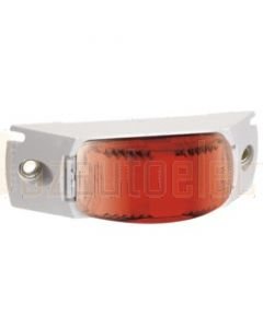 Narva 91638 9-33 Volt L.E.D Rear End Outline Marker Lamp (Red) with White Header Mount Base and 0.5m Cable