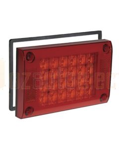 Narva 9-33 Volt L.E.D Rear Stop/Tail Lamp (Red), 0.5m Cable, Retro-fit Gasket and Security Caps (94808)