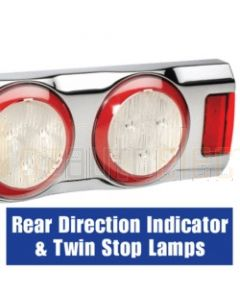 Narva 94365C9-33 Volt L.E.D Reverse, Rear Direction Indicator and Stop Lamps with L.E.D Tail Rings and 0.5m of Hard-Wired Cables