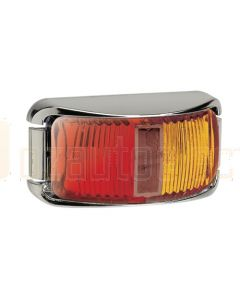 Narva 91602CBL 9-33 Volt L.E.D Side Marker Lamp (Red / Amber) with Chrome Base and 0.5m Cable (Blister Pack)