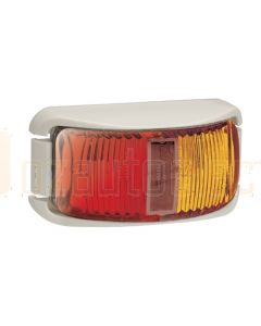 Narva 91602WBL 9-33 Volt L.E.D Side Marker Lamp (Red / Amber) with White Base and 0.5m Cable (Blister Pack)