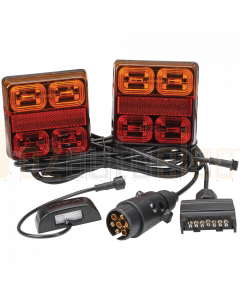 Narva 93540BL2 Model 35 12V LED Plug and Play Trailer Lamp Kit - Square