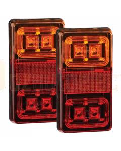 Narva 93550BL2 Model 35 12V LED Slimline Rear Stop/Tail Direction Indicator Lamps - Rectangular