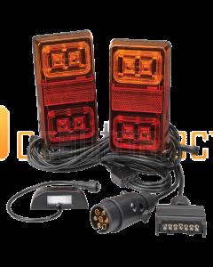 Narva 93560BL2 Model 35 12V LED Plug and Play Trailer Lamp Kit - Rectangular
