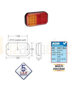 Narva 94140BL 9-33 Volt L.E.D Rear Stop/Tail and Direction Indicator Lamp
