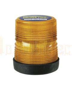 Narva 85459A Hi Optics Extreme Duty Double Flash Strobe Light (Amber) Flange Base 12 or 24 Dual Voltage