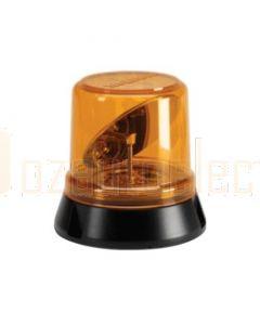 Narva 85270A Hi Optics L.E.D Rotating Beacon (Amber) Flange Base, 12 / 24 Volt
