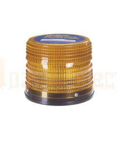 Narva 85454A Hi Optics Quad Flash Strobe Light (Amber) Low Profile Flange Base 12 or 24 Dual Voltage