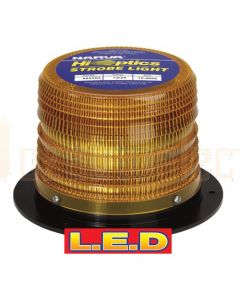 Narva 85230A High Output L.E.D Strobe Light (Amber) with 4 Selectable Flash Patterns, Flange Base, 12/24 Volt