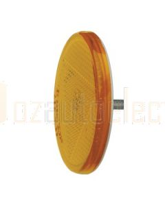 Amber Retro Reflector 65mm dia. with Fixing Bolt (2)