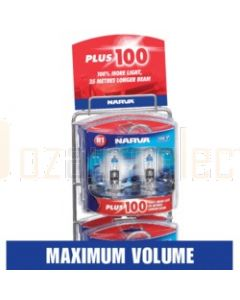 Narva 48107 Plus 100 Performance Globe Merchandiser