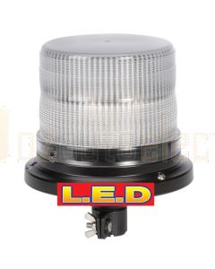 Narva 85242A Pulse High Output L.E.D Strobe light (Amber) With 8 Selectable Flash Patterns, Pipe Mount,12/24 Volt
