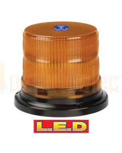 Narva 85246A Pulse High Output L.E.D Strobe/Rotator Light (Amber) With 2 Selectable Flash Patterns, Flange Base, 12/24 Volt
