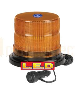 Narva 85248A Pulse High Output L.E.D Strobe/Rotator Light (Amber) with 2 Selectable Flash Patterns, Magnetic Base and Cigarette Lighter Plug with Switch, 12/24 Volt