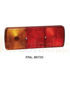 Narva 86700BL Rear Stop / Tail, Direction Indicator Lamp with In-built Retro Reflector & BC Globe Holders - Blister Pack