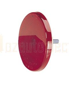 Narva 84002BL Red Retro Reflector 65mm dia. with Fixing Bolt (Blister Pack of 2)