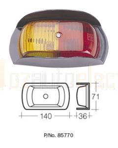 Narva 85770 12V Side Marker Lamp (Red/Amber) with Metal Safety-Guard Bracket