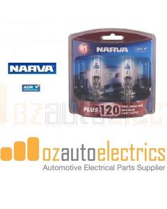 Narva 48360BL2 Halogen H1 Globe 12V 55W Plus 120 P14.5s (Blister Pack of 2)